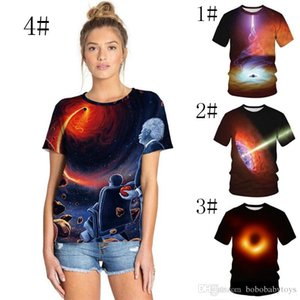 Black Hole 3d Print Womens&Mens lovers T Shirts tops Fashion Einstein Space Printed Tee Top Short Sleeve Lovers Casual Tshirts S-3XL New
