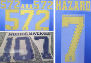 2019 2020 Real Madrid gold stamping soccer namesets HAZARD MODRIC plastic printing letters impressed soccer player's hot printed stickers