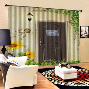Beautiful Photo Fashion Customized 3D Curtains Fresh sunflower curtains Blackout curtain