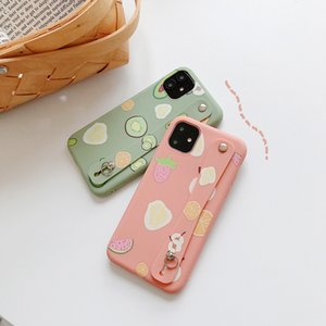 Meyve Portakal Limon TPU Telefon Tutucu Kapak iPhone XS MAX XR X 7 8 6 6s Plus Yumuşak TPU Silikon Arka Kapak Standı