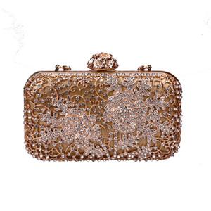 Rosa sugao Kristall Luxus Abendtasche Bling Party Geldbörse Top Diamant Boutique Gold Silber Frauen Hochzeit Tag Handtasche