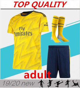 2020 Gunners Accueil 2019 rouge loin Maillots de football jaune kits 19/20 Troisième bleu profond Gunners football Chemises hommes personnalisé Uniformes de football