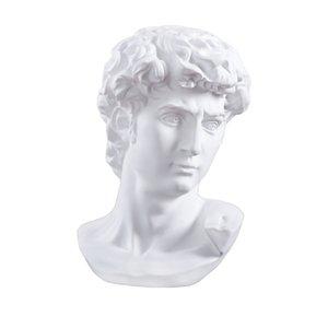 David Head Portraits Bust Mini Statue Gypsum Michelangelo Buonarroti Décoration pour la résine ARTCRAFT pratique Sketch