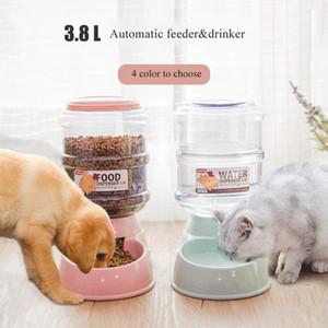 Pet chargeur automatique 3.8L Pet chargeur automatique / Abreuvoir pour chiens de stockage Barrel Teddy produits pour les chats