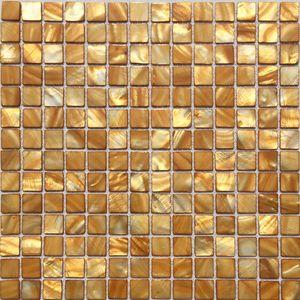 Morrer Mãe de pérola cozinha backsplash telha MOP19004 shell ouro amarelo banheiro mosaico azulejo da parede