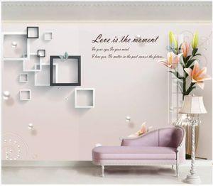 WDBH Personnalisé photo 3d papier peint Boîte en relief magnolia vase tv fond peinture décor à la maison salon papier peint pour les murs 3 d