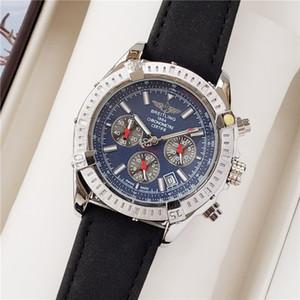 Reloj de la venta caliente de 45 mm Nuevo Movimiento de cuarzo de alta calidad Completo puntero Hombres de Trabajo de lujo del reloj de moda clásica del regalo de los hombres del reloj de los hombres famosos