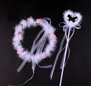 Fashion Feather Angel Headband Magic Wand Sticks for Women Girls Princess HairBands Decor Hair Accessories