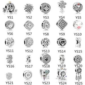 Belle Sterling Argent 925 Perles Pandora Coeur Mignon Lettres D'amour Coeur Pandora Perles Perles DIY Pour Bracelets