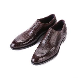 Мужские кожаные туфли коровьей Подошва моды коровьей Рельефный Новоселье Свадьба Мужчины кожаные ботинки Chaussure Homme