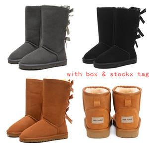 2019 Austrália Mulheres Botas de Neve 100% Couro Genuíno Ankle Boots de Couro Botas de Inverno Quentes Sapatos de mulher tamanho grande 5-10