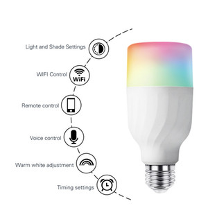 E27 WiFi Smart Bulb LED Wireless Dimmable 7W RGBCW Bulb Alexa   Google Home APP Control Multicolored Changing Night Party Light