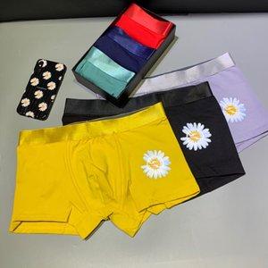 2020 3 디자이너 남자 속옷 클래식 브랜드 스타일 럭셔리 패션 고품질 부드러운 맞는 꽉 편안 아니 컬링 3 상자