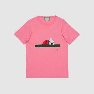 Сделано в Италии Tee High Version Мужчина дизайнер T рубашка Cartoon совместного название бренд печати припуск качества футболка печать летних женщины футболки 9605