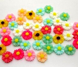 50Pcs Mixed Flower Resin Decoration Crafts Beads Flatback Cabochon Scrapbook DIY Embellishments Accessories