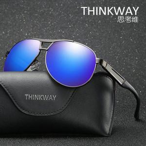 Yüksek kaliteli erkek güneş gözlüğü havacı güneş gözlüğü metal tasarımcı ambalaj kutusu ile büyük çerçeve Retro UV400 gözlük güneş gözlüğü