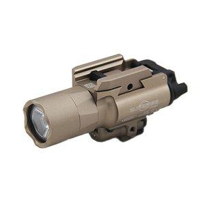 전술 SF X400U LED 화이트 라이트 X400 울트라 권총 소총 손전등 레드 닷 레이저