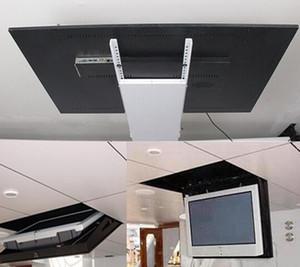 Моторизованный электрический скрытый флип вниз подвесной потолок LED LCD телевизор подъемник монтажа функция держателя вешалки дистанционного управление 110V-250V 1 шт