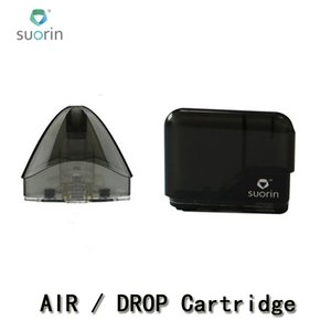 100% Authentic Suorin Drop Cartridge Pods 2ml Suorin Air Refillable Pod Replacements Coil Head For Drop and Air Kit MTL Vaping Empty Pod