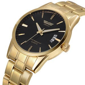 New steel belt gold watch ruidu gold men's Watch363
