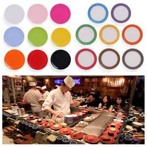 Pan caliente cena Placa del alimento Sushi melamina plato rotatorio Sushi placa redonda de colores Cinta transportadora Sushi platos de servir cocina toolsT2I5650
