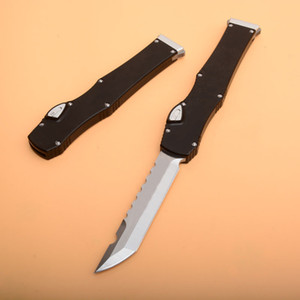 """High End Ha lo 6 Tactical Knife (4.4"""" Satin) Single Action Hell Blade knifes With Safety lock Survival EDC Gear knives"""