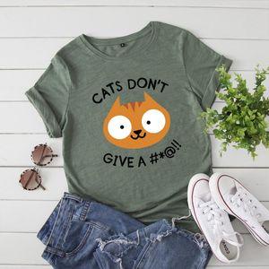 Cartoon Funny Cat Print Ladies Tops Plus Size 5XL 100%cotton Short Sleeve Women T-shirt Harajuku Creative Tshirt Basic Tee Shirt