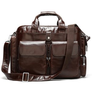 Genuine Bags Messenger Leather Shoulder Bag Man Men Business Male Briefcases Bag For Laptop Documents Handbags