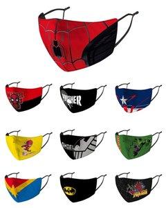Partido Máscara Natal Ordinária versão super-herói máscara para adulto garoto Avengers Marvel Homem Aranha preta ironman capitão máscara américa hulk Batman