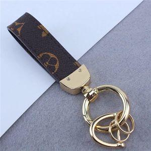 high qualtiy Leather Designer Key chain Fashion Brand Handmade Car Keychain Women Bag car keychains Charm Accessories with box