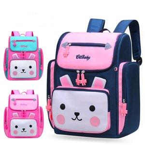 2019 cute cartoon rabbit princess school backpack for girls 2 sizes primary school bags kids travel backpacks mochila escolar Y200706