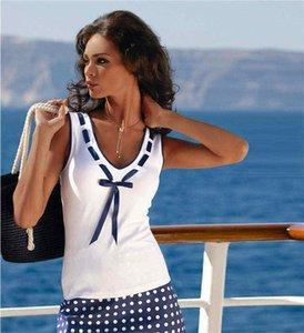 여성 T - 셔츠 V - 목 BowT 셔츠 컬러 블록 티셔츠 탑 민소매 캐주얼 T - 셔츠 YZ20.1-939