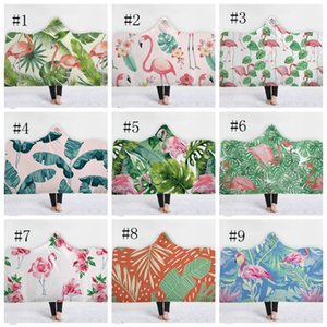 Flamingo Hooded Blankets Super Soft Fleece Blanket Kids Sherpa Blankets Wearable Throw Blanket Kids Gift Bedding Supplies 27 DSL-YW1673