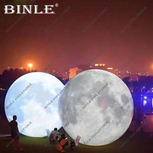 Graue Farbe dekorativ führte für Veranstaltungen riesigen aufblasbaren Mondkugel aufblasbaren Planeten Ballon Mond Globus Beleuchtung