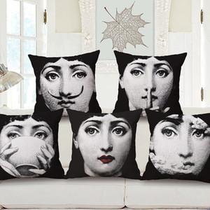 20 couleurs rétro imprimé taie d'oreiller portrait recto impression personnalisable maison linge lin chambre canapé Vintage Taie d'oreiller DH0729 T03