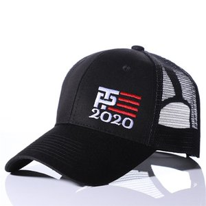 Trump 2020 Chapéus da bandeira dos EUA Bonés de beisebol Trump Cap Donald Fashion Make America Great Again Tampão da bola Bordados Esportes Chapéus