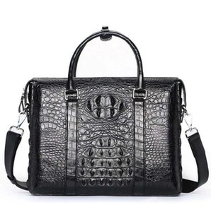 hujingsha crocodile skin leather men handbag One shoulder male briefcase Genuine leather Men bags