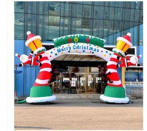 2020 heißen Verkauf Weihnachts Krücke Bogen hochwertiger 8m breite Werbung Inflatables Weihnachten Luft Schimmel