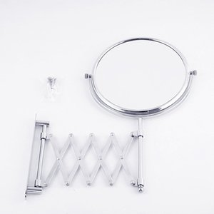 Led Telescopic Wall Mirror Home Hotel Metal Folding Mirror Generation Fashion Gift Single-Sided Bathroom Wall Aluminum Mirror