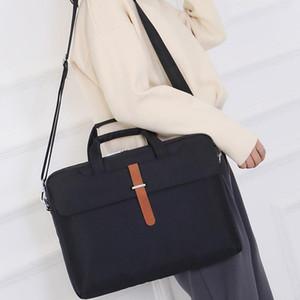 14 15 인치 대용량 노트북 가방 방수 휴대용 노트북 가방 어깨 노트북 가방 내구성 노트 케이스 비즈니스 베이 BC BH1487-1