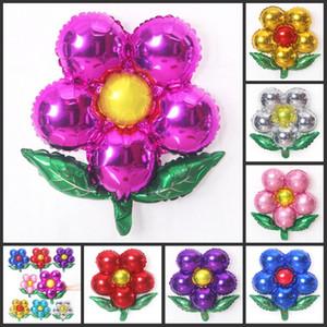 50 개 알루미늄 호일 꽃 풍선 화려한 장식 다섯 디스크 꽃 풍선 Baloon 웨딩 파티 장식 공기 풍선 장난감