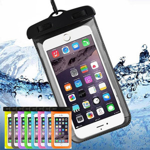 Waterproof Phone Case Cellphone Water Proof Iphone Underwater Pouches Fluorescent Edge Dry Bags with Lanyard for iphone XS MAX XR X 8(hl)