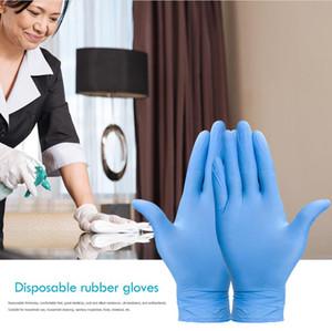 Fabbrica usa e getta guanti di protezione del Lavoro 100 pz/scatola impermeabile in lattice di Gomma Nitrile addensato Guanti in PVC di Trasporto Libero