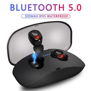 X18 TWS Auscultadores sem fios Bluetooth 5.0 Cordless HIFI Headphone X18S Sports fone de ouvido com carregamento Box microfone para IOS Android