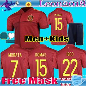 Uomo Bambini 2020 spagna maglia da calcio A.INIESTA casa camiseta de fútbol Sergio Ramos ISCO Euro Cup di calcio camicia uniformi