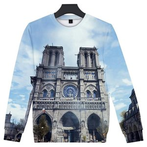 بلوفرز o-neck Bullovers Long Sleeds Fashion Mens 3D Designer Hoodies Notre Dame de Paris