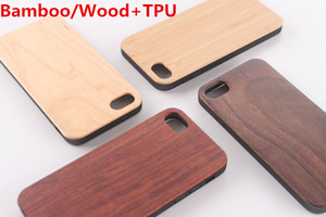 Real Bamboo Wood Case+TPU For iPhone X XS Max XR 11 11Pro 11Promax Hard Cover Carving Wooden Bamboo Samsung Smartphone Shell Protector