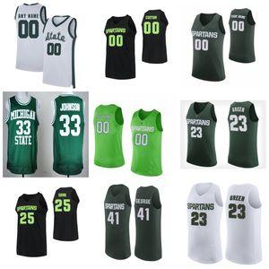MSU Spartans Jerseys Kyle Ahrens Jersey Joshua Langford Foster Loyer Cassius Winston Basketball Mens Jerseys Custom Stitched