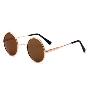 النظارات الشمسية المستقطبة جولة الأطفال الأمير الأمير 2018 الفتيان والفتيات النظارات الشمسية المعدنية الجديدة الجملة الحرة الشحن