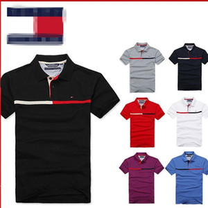 Printemps de luxe Italie Hommes T-shirt Designer Polos High Street broderie crocodile petit cheval impression Vêtements pour hommes Marque Polo